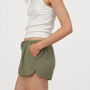 H&M Green Drawstring Shorts